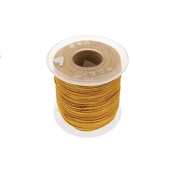 SYNTHETIC CORD MACRAME 100 meter - 1,0mm GOLD