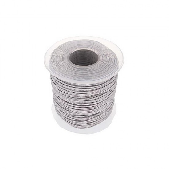 SYNTHETIC CORD MACRAME 100 meter - 1,0mm LIGHT GREY
