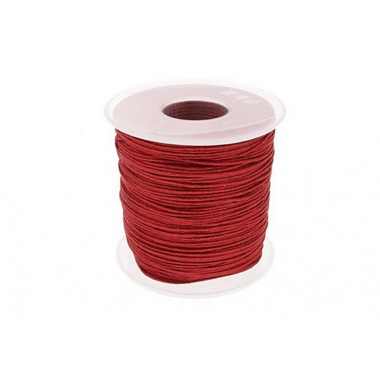 SYNTHETIC CORD MACRAME 100 meter - 1,0mm BORDEAUX