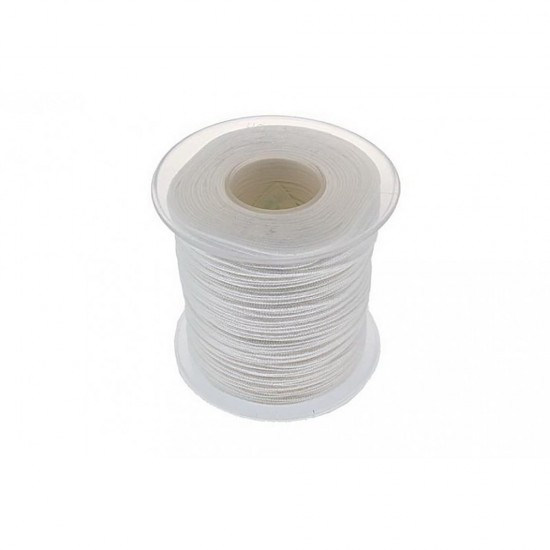 SYNTHETIC CORD MACRAME 100 meter - 1,0mm WHITE