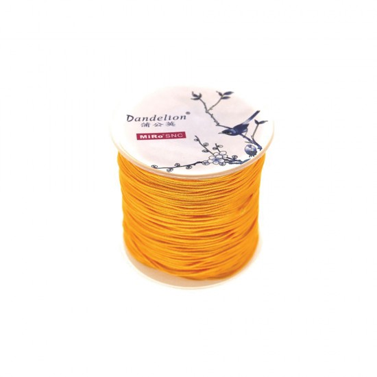 SYNTHETIC CORD MACRAME 100 meter - 1,0mm ORANGE COLOUR