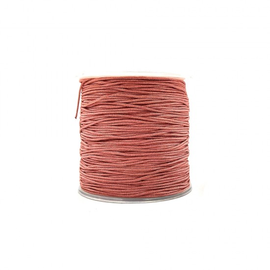 SYNTHETIC CORD MACRAME 100 meter - 1,0mm ROTTEN APPLE COLOUR