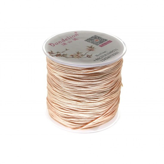 SYNTHETIC CORD MACRAME 100 meter - 1,0mm SALMON