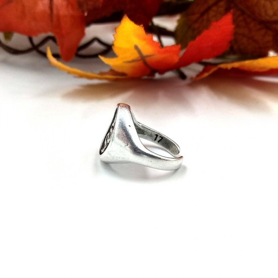 RING WITH SNAKE STAMP
