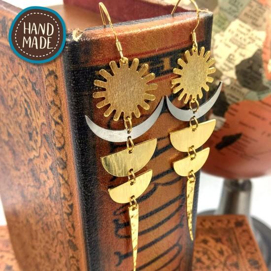 HANDMADE EARRINGS SYN AND MOON