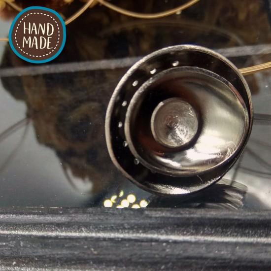 HANDMADE BRASS RING 3 LEVELS