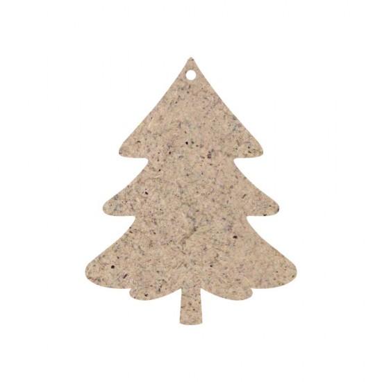 CHRISTMAS ORNAMENT TREE UNPAINTED MDF 8X10cm