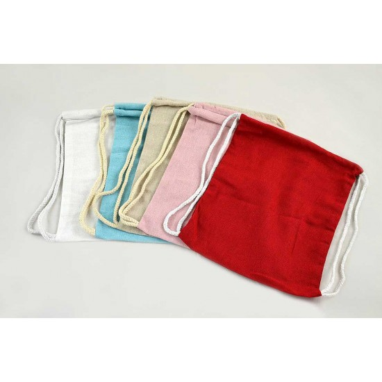POLYCOTTON BAGPACK WITH ROPE