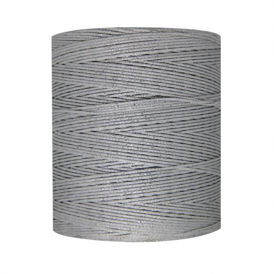 WAXED CORD 1mm / 500 meters SILVER LUREX
